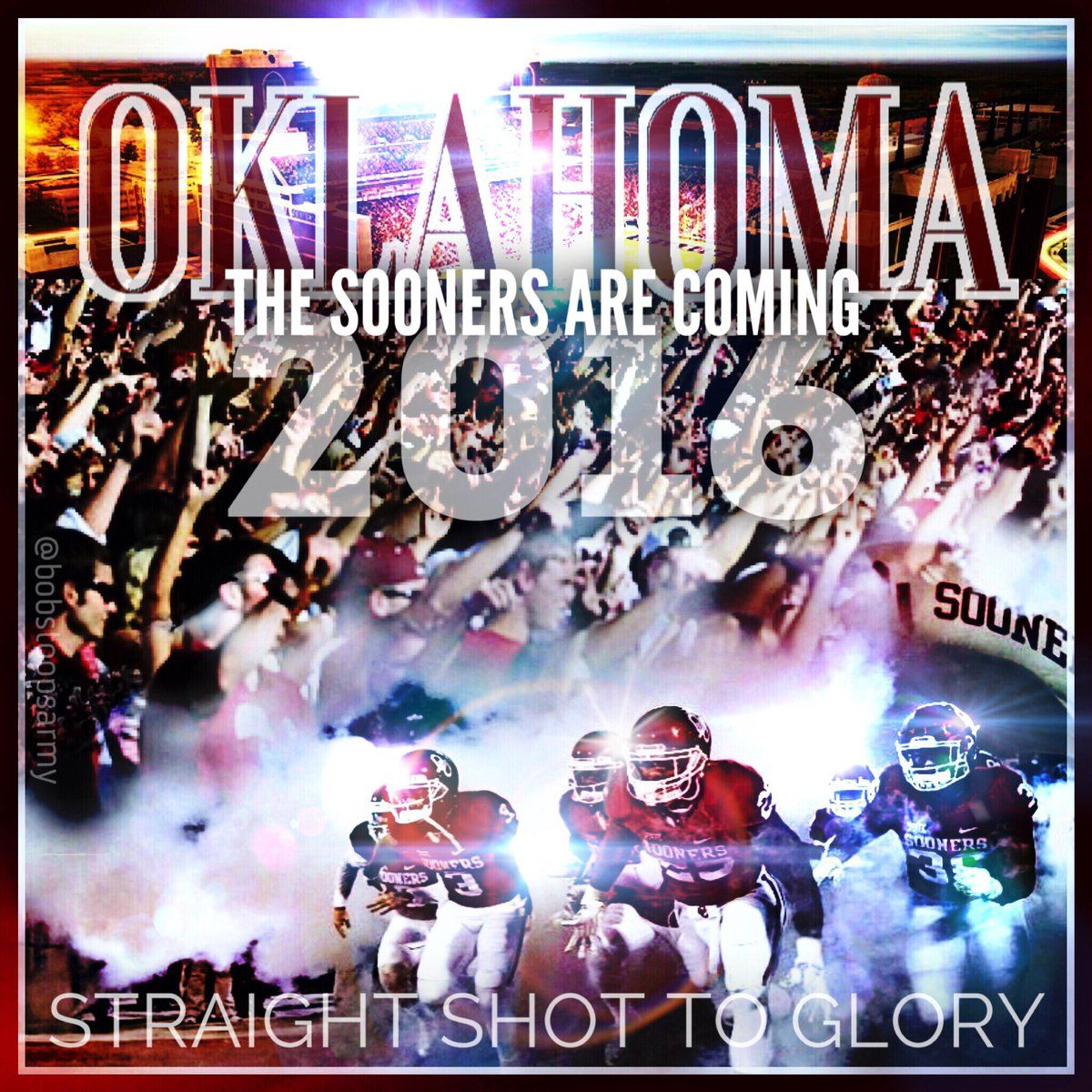 The Bob Stoops Army on | Bob stoops, Boomer sooner, Ou game