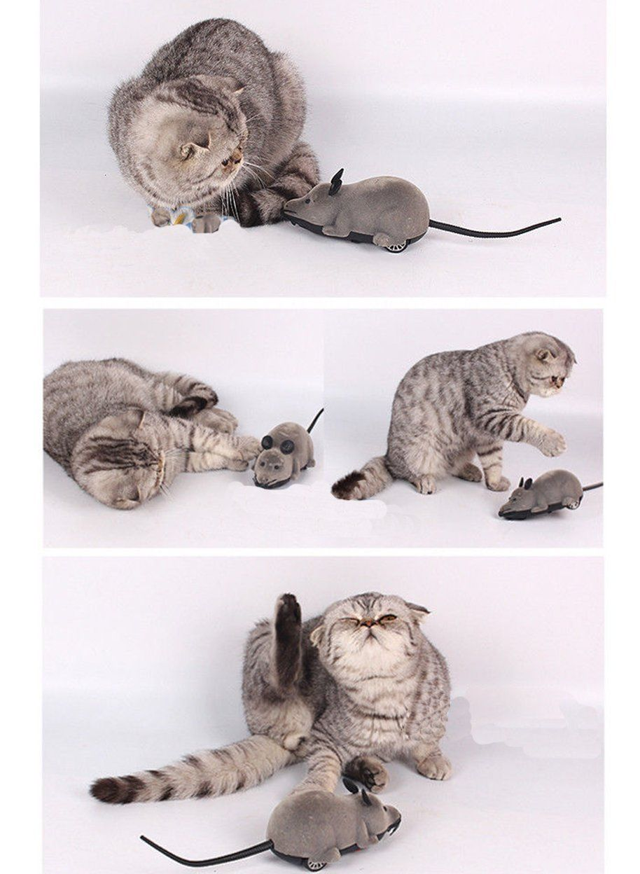 Wireless Remote Control RC Electronic Rat Mouse Mice Toy For Cat Puppy Gift Haustierbedarf