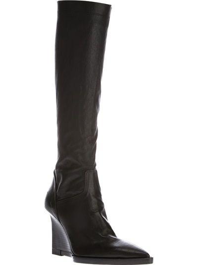 clearance online fake Ann Demeulemeester Metallic Knee-High Boots discount how much cheap sale shop 8Xiccg64oT
