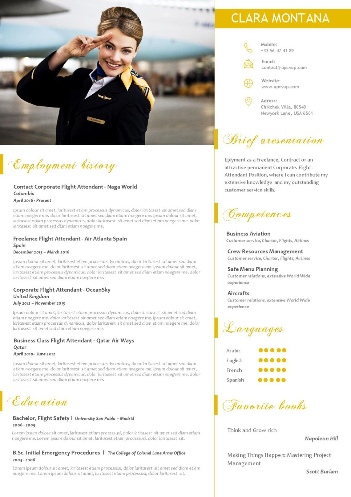 Flight Attendant Resume Samples Cover Letter Example For Emirates Cabin Crew Templates
