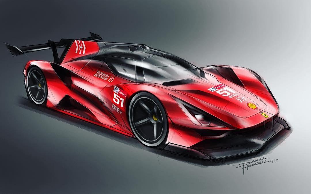 Ferrari Hypercar Gte Concept Ferrari Lemans Hypercar Gt 2020 Lmp1 Sportscar Endurance Car Concept Cars Futuristic Cars Street Racing Cars