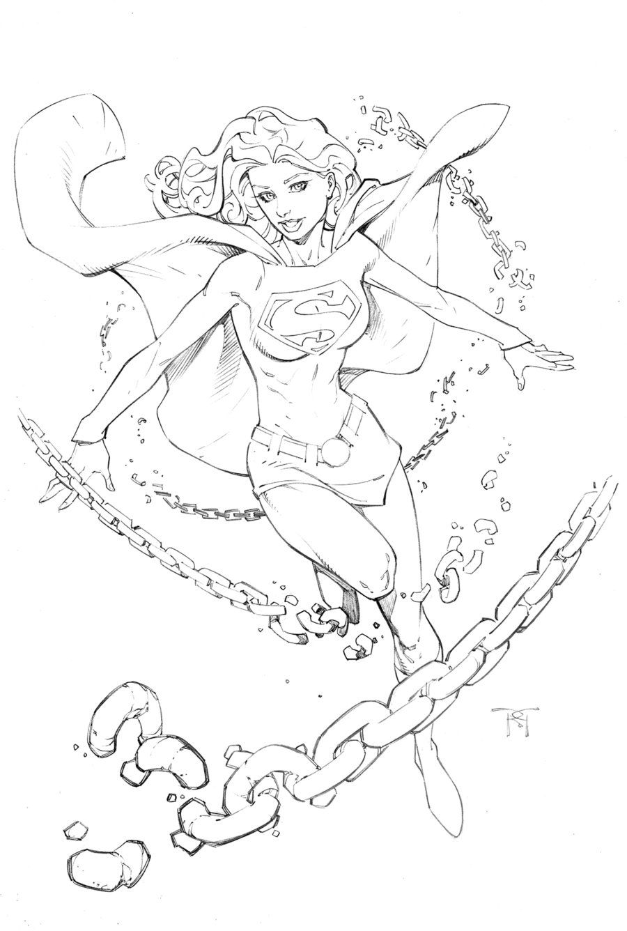 supergirl coloring page.html