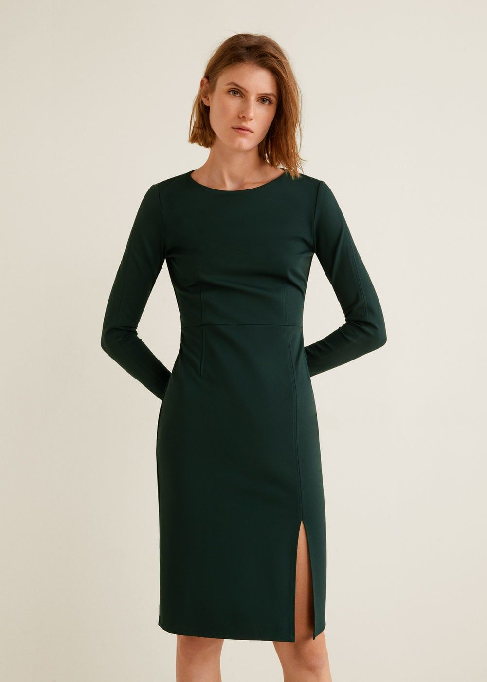 Side slit knit dress women dkny dress pinterest dresses