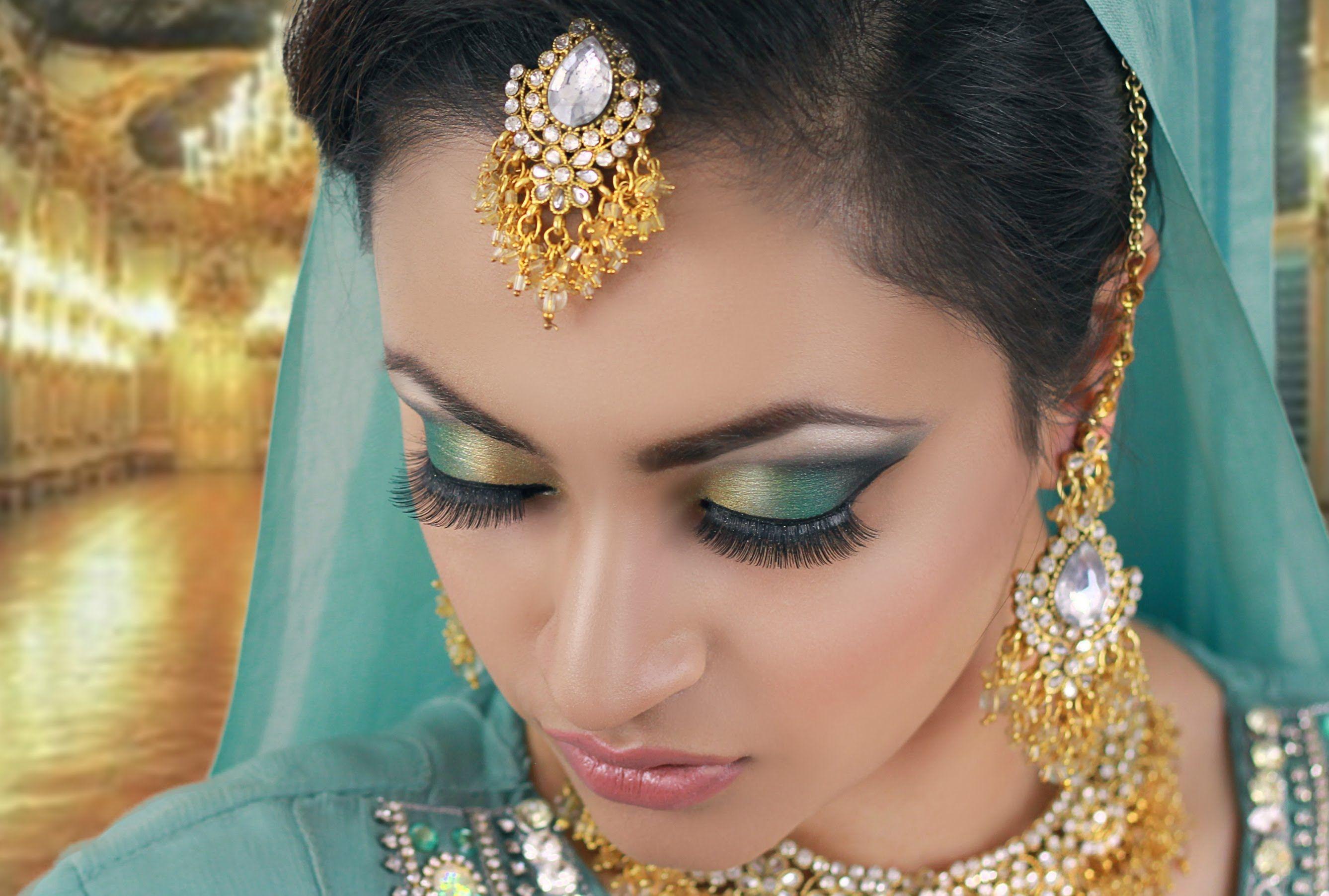 Mehndi Bridal Makeup Tutorial : Eye makeup for mehndi function saubhaya