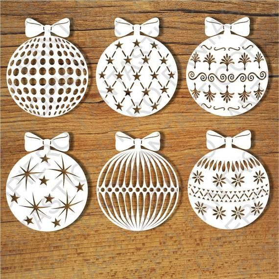 Baubles, Christmas Balls SVG files for Silhouette