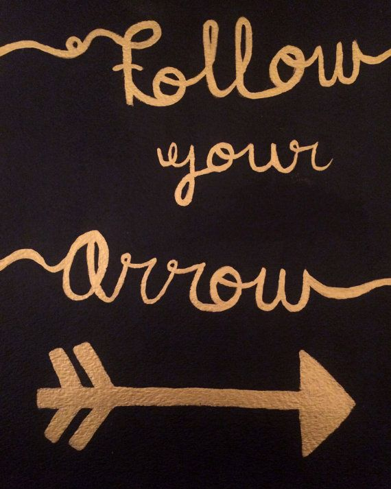 Follow Your Arrow PRINT by MSherwoodDesigns on Etsy