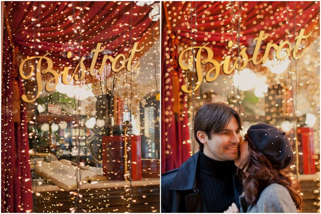 OH MY TWINKLY LIGHTS. Love it! Great backdrop, and in Paris, no less!