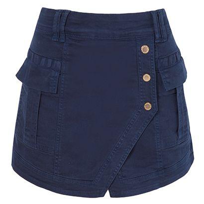 ANIMALE - Short saia ocean - azul - R$ 457,00