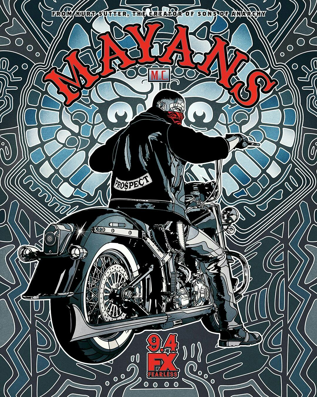 Mayans Tv Show Sons Of Anarchy SOA Motorcycle T-Shirt