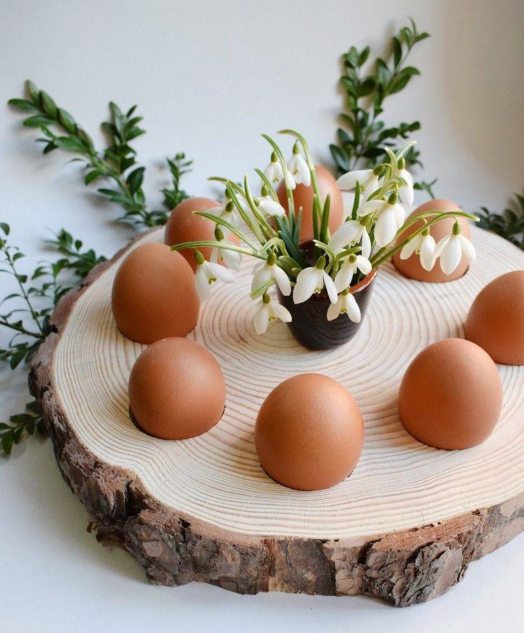 Basteln Mit Baumscheiben Für Ostern Spannende