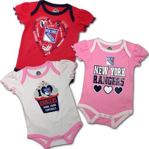 ... I Love The Rangers Bodysuits (3-Pack) newyork rangers hockey baby infant  girl ... f4036601f