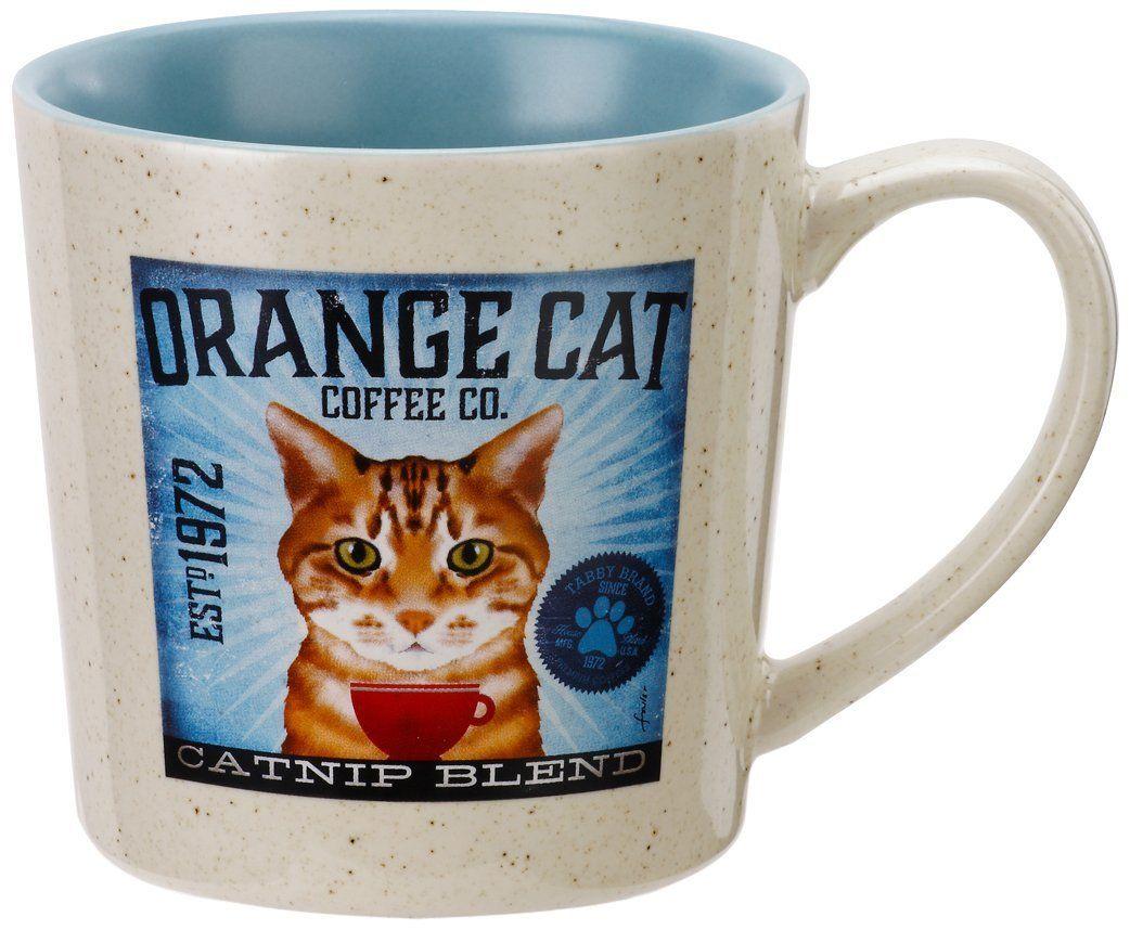 Rikki Knight White Kitten Orange and Blue Eyes Design Ceramic Art Tile 12 x 12