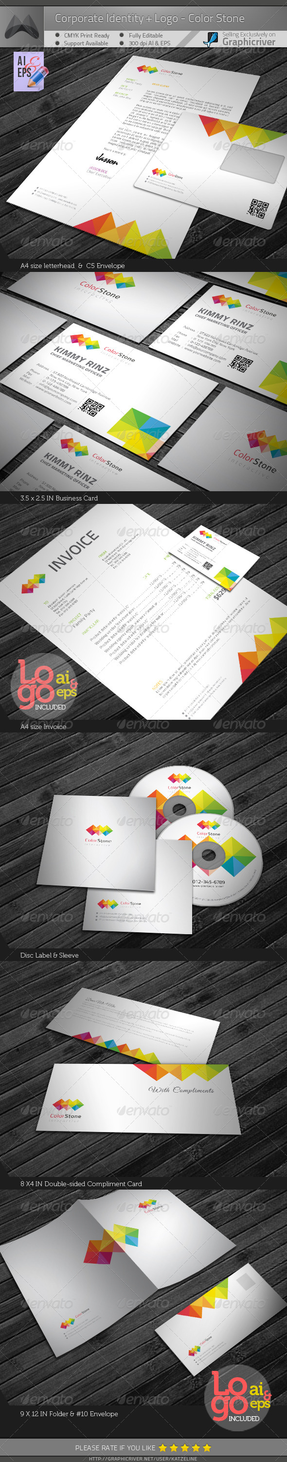 Corporate identity package color square graphicriver corporate color square graphicriver corporate identity package color square contains 1 letterhead a4 size 2 invoice a4 size 3 business card 35x25 reheart Image collections