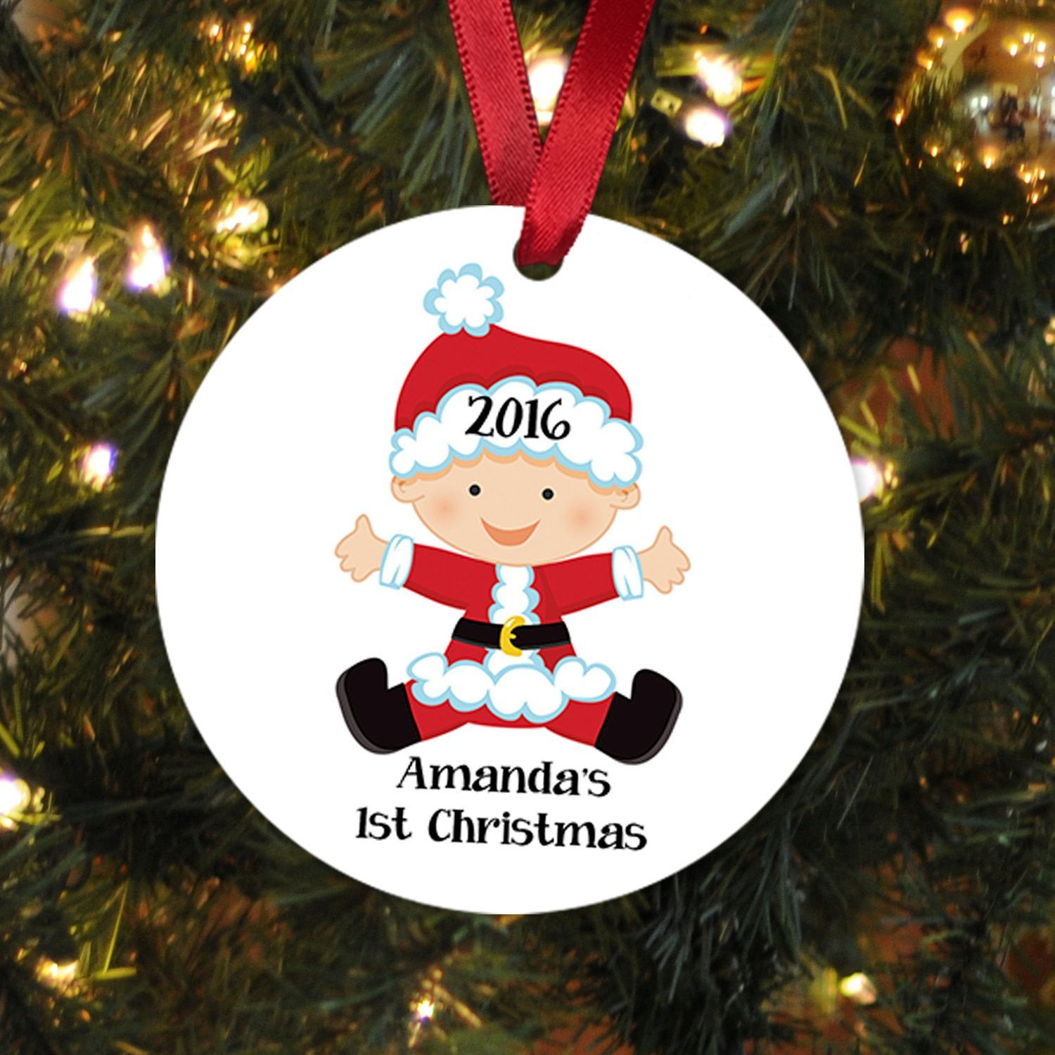 New baby ornaments - Baby S First Christmas Ornament Personalized Christmas Ornament Baby Christmas Ornament New Baby Gift