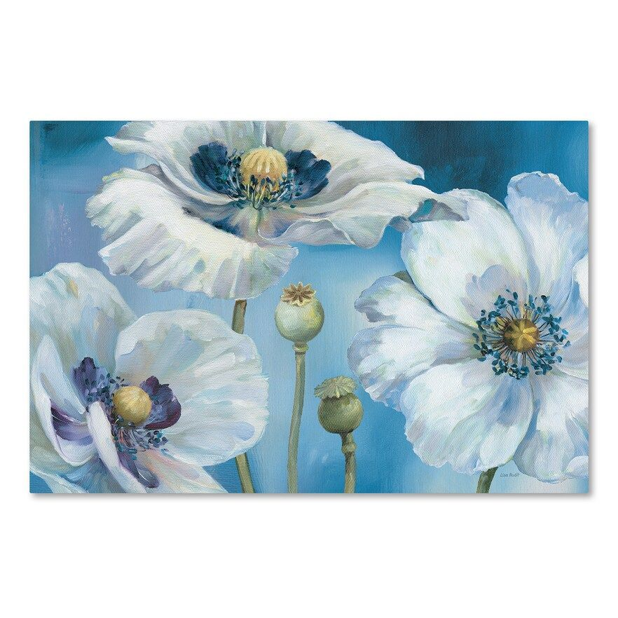 Trademark Fine Art Blue Dance I Canvas Wall Art Floral Painting Tangletown Fine Art Flower Painting