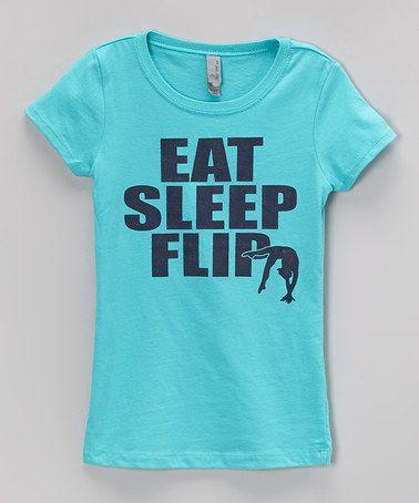 Aqua Eat Sleep Flip Tee Infant Toddler Girls By Peanuts
