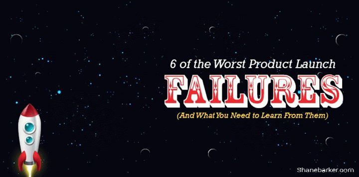 6 of the Worst Product Launch Failures (And What You Need to Learn From Them) http://buff.ly/2lmgJPY