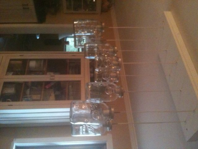 My weekend chandelier project!  Easy to build...harder to hang~