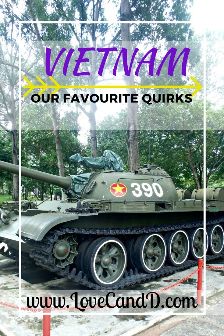 If you're heading to Vietnam, be sure to look out for these Quirks. This is one in a series of blog posts covering the quirks of the countries we have visited. Check out the blog to see the rest.