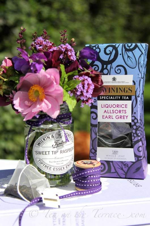Really love this image by Kat Weatherill for 'Tea On The Terrace' blog with a mini review of the Whole Leaf Silky Pyramid Liquorice Allsorts Earl Grey Tea: Click image to read her blog on