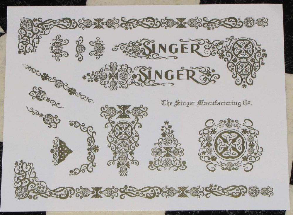 Waterslide Replacement Decals For An Antique Singer Sewing Machine Extraordinary Replacement Sewing Machine Decals