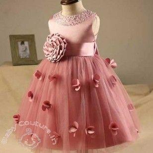 Blush Love 3d Flower Kids Dress Ball Dresses Pink