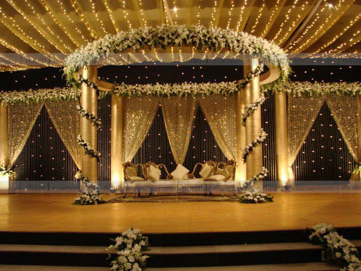 Mark1 decors wedding stage decorators in south india for Wedding hall decoration items