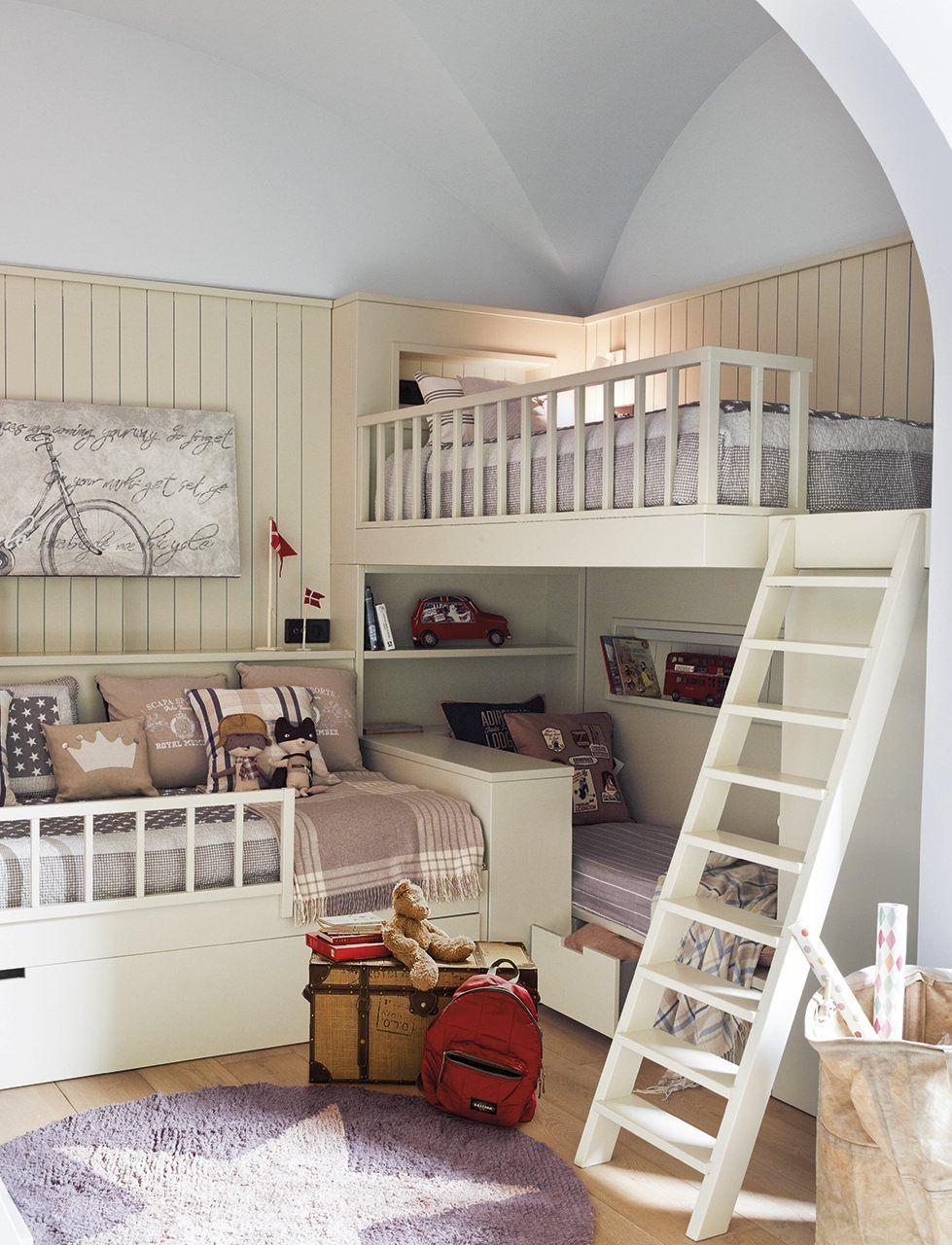 Un Cuarto Para Tres Hermanos Habitación Para Tres Niños Habitación De Hermanos Dormitorios