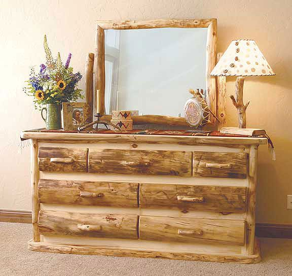 Rustic Log Bedroom Furniture | Log Furniture Bed | Reclaimed Wood .