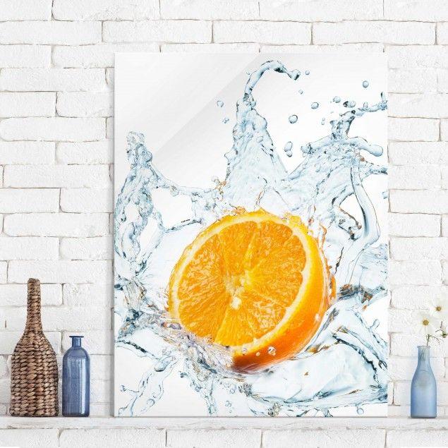 Glasbild Küche - Frische Orange - Hoch 4:3 | Glasbilder küche ...