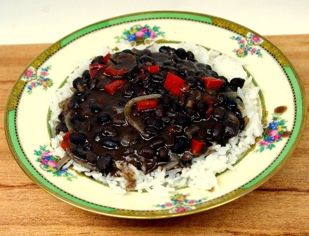 Quick & Easy CUBAN-style BLACK BEANS & WHITE RICE - So, so ...