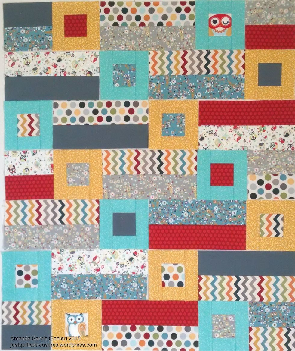 Adorn It fabric, mimicked a pattern found on Pinterest for the baby quilt.