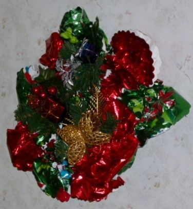 Christmas Bouquet # 26 inches around. $25.00 Free Shipping USA only