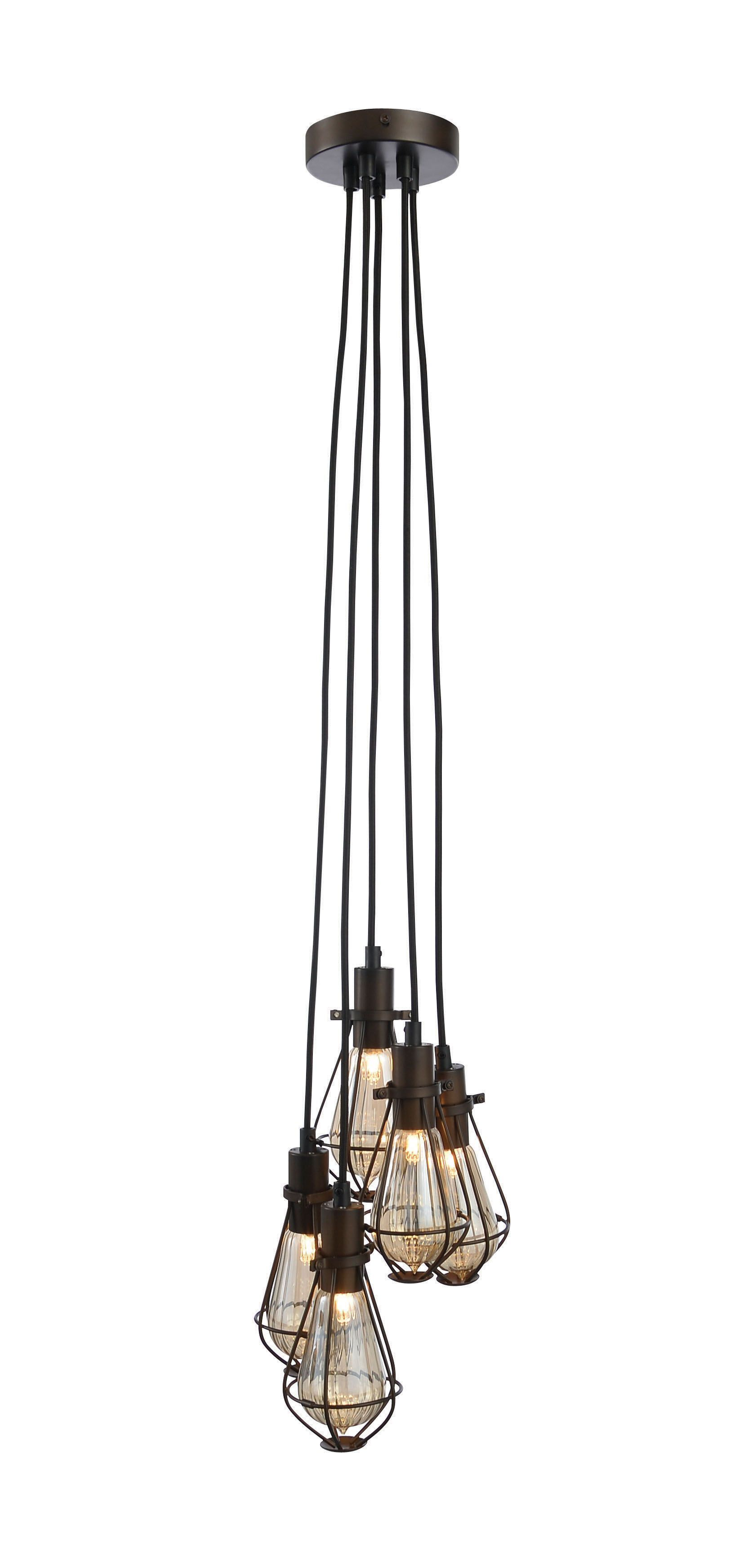 Ananes black bronze effect 5 lamp ceiling light aloadofball Choice Image