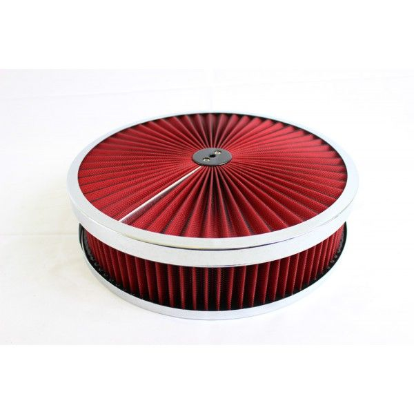 """12/""""x2/"""" Oval Washable Air Cleaner Filter Breather Reusable Oiled Fits Ford Chevy"""