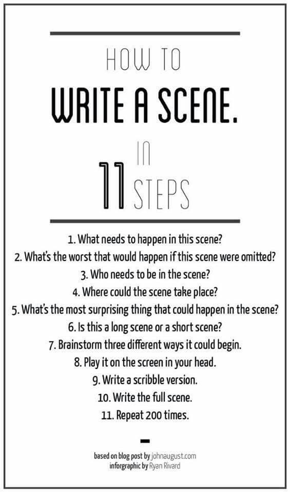 How to write a scene For writing Pinterest Creative writing - how to write a