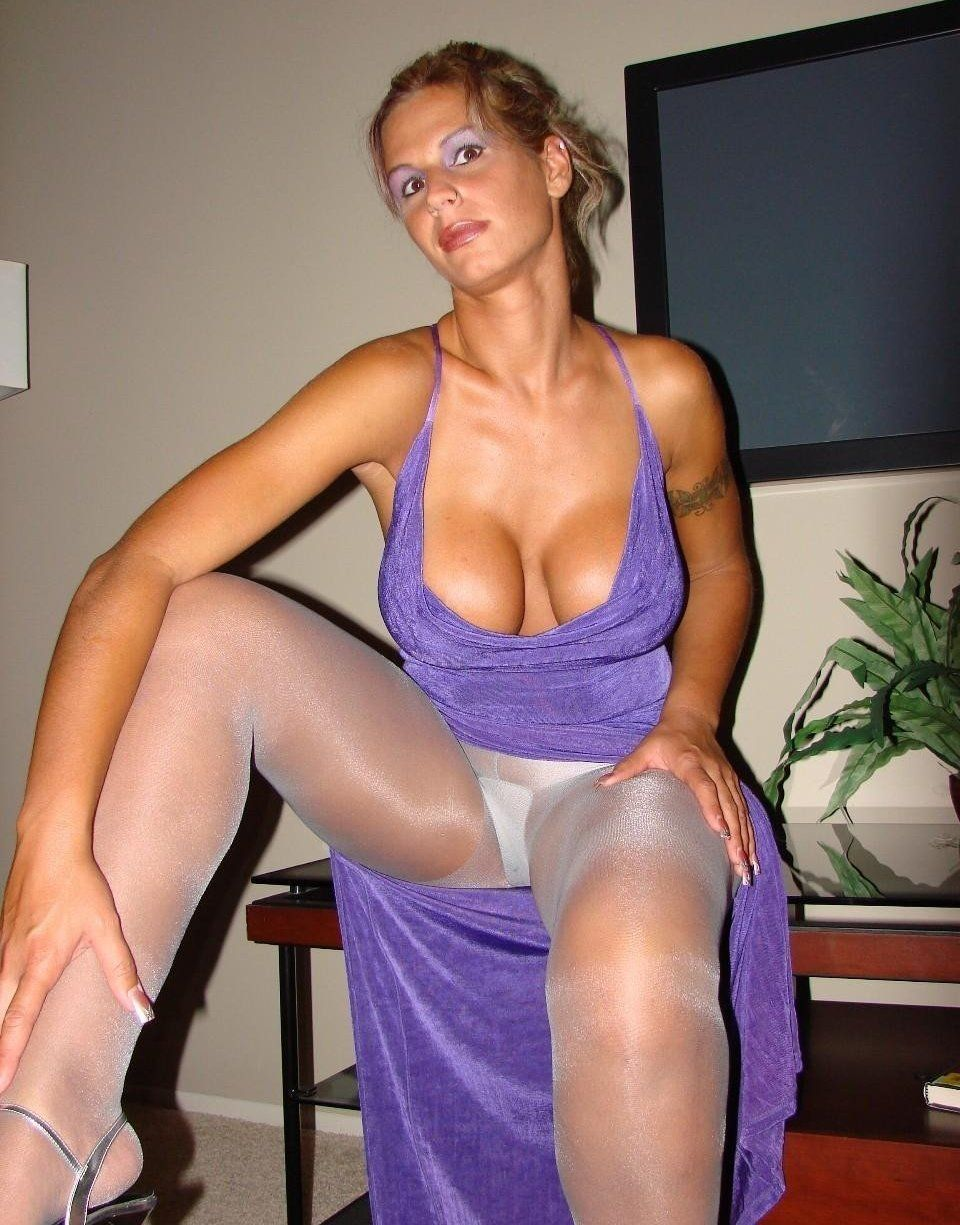 Fetish hosiery mature