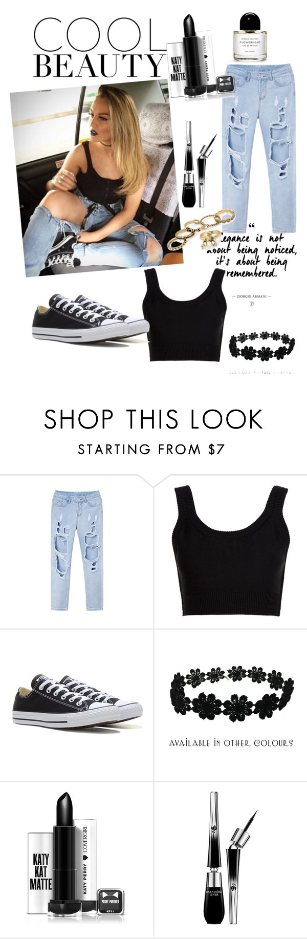 """""""Get The Look"""" by michelleonline ❤ liked on Polyvore featuring Calvin Klein Collection, Converse, Zara Taylor and Lancôme"""
