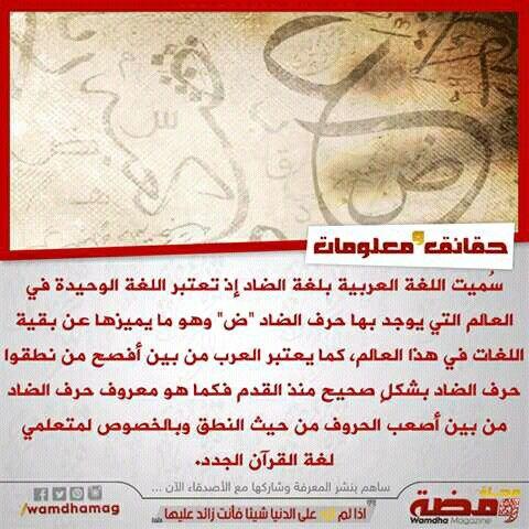 لماذا سميت اللغة العربية بلغة الضاد Event Ticket