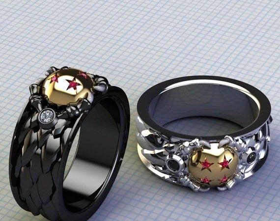 Magnifique Faites votre demande de mariage avec ces bagues Dragon ball #CK_09