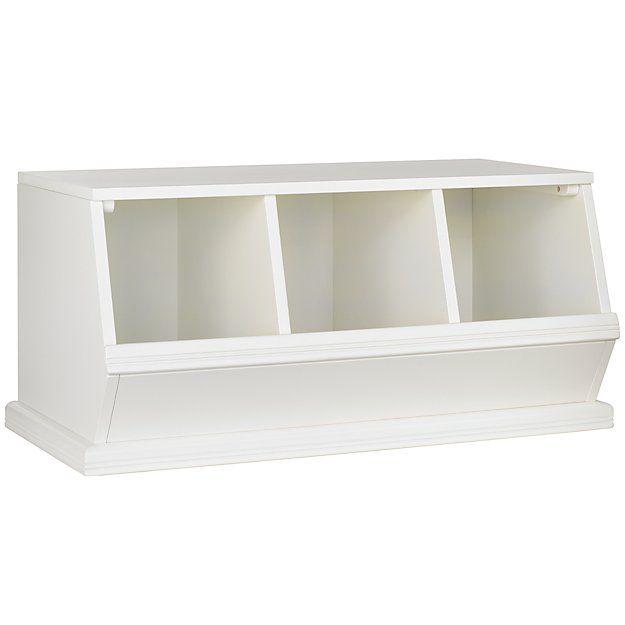 White 3 Bin Storagepalooza The Land Of Nod White Storage