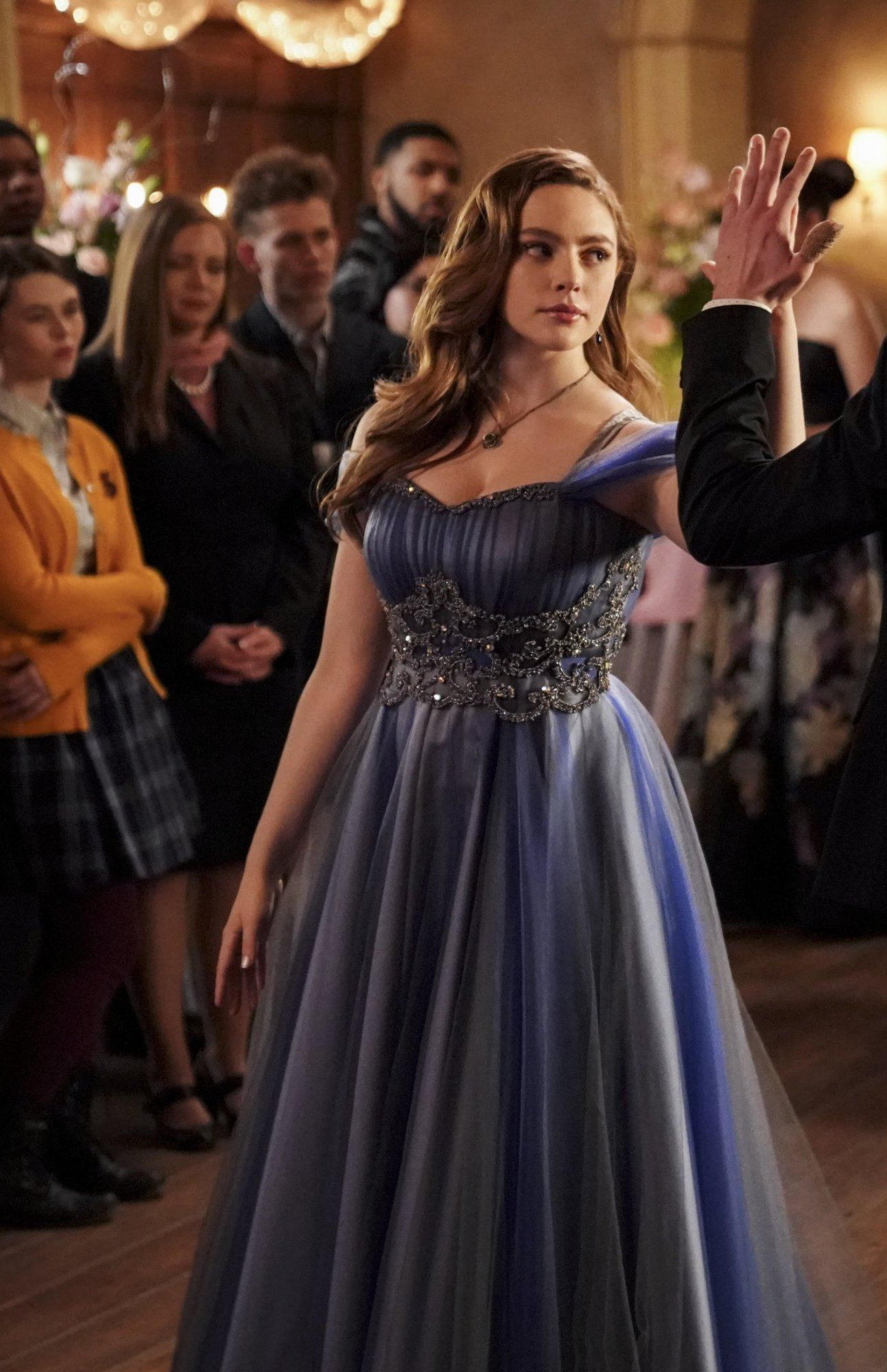 Pin By Raya M S M On Hope Mikaelson Pretty Quinceanera Dresses Legacy Tv Series Caroline Dress [ 2000 x 1293 Pixel ]