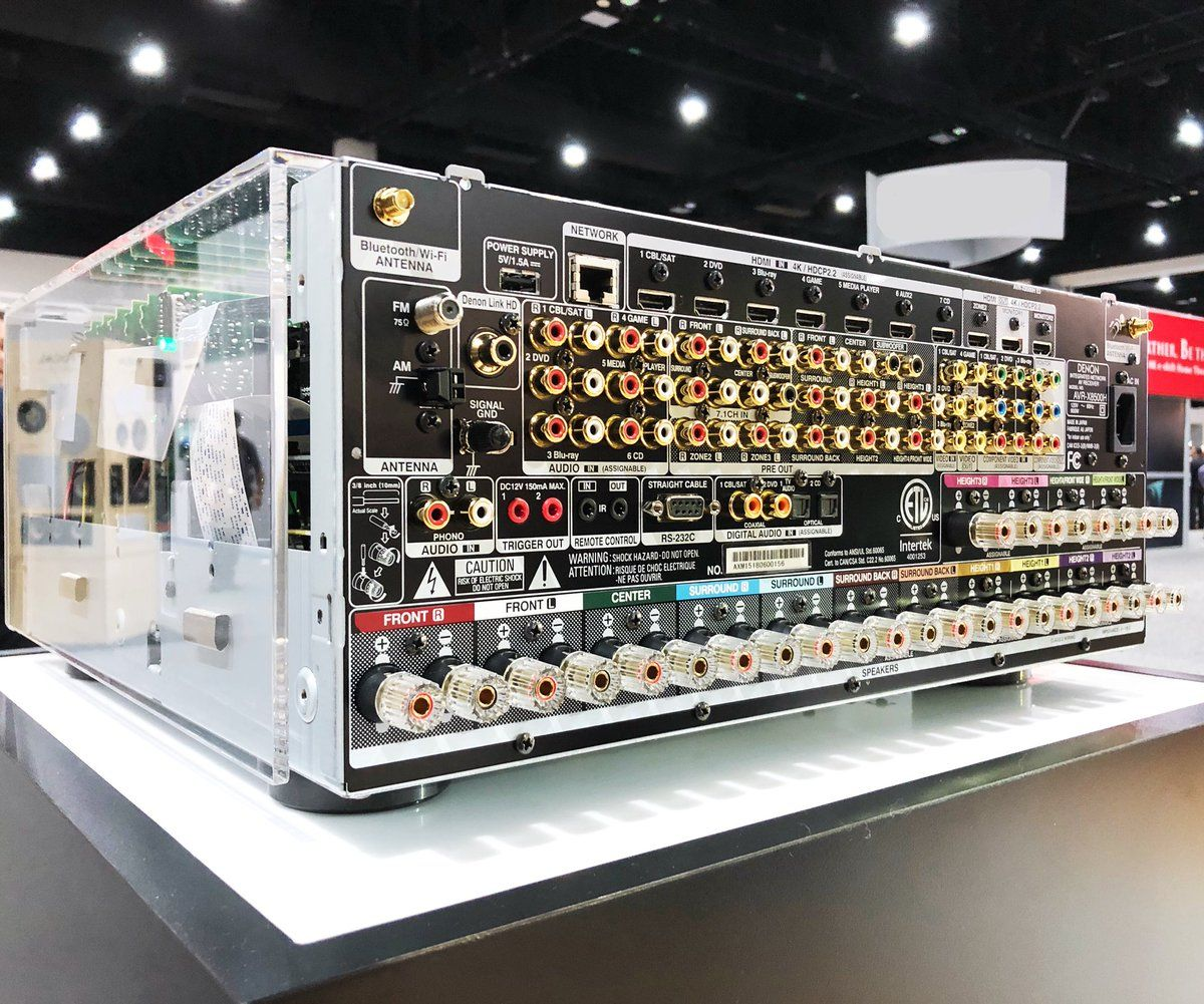 Image result for Denon AVR-X4500H and AVR-X6500H at CEDIA