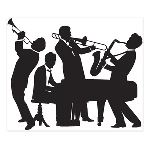 Great 20 S 2 Piece Silhouettes Standup Set Jazz Band 20s Party Theme Jazz Party
