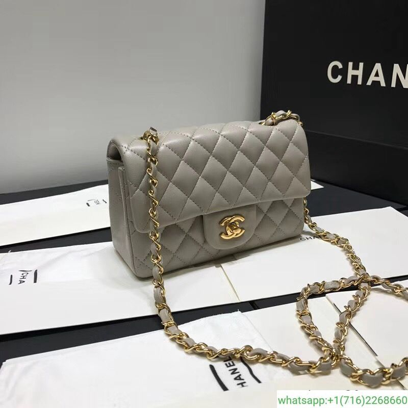 0a8d578257e3c7 chanel classic gray flap bag 20cm cf20 | #my style | Chanel, Bags ...