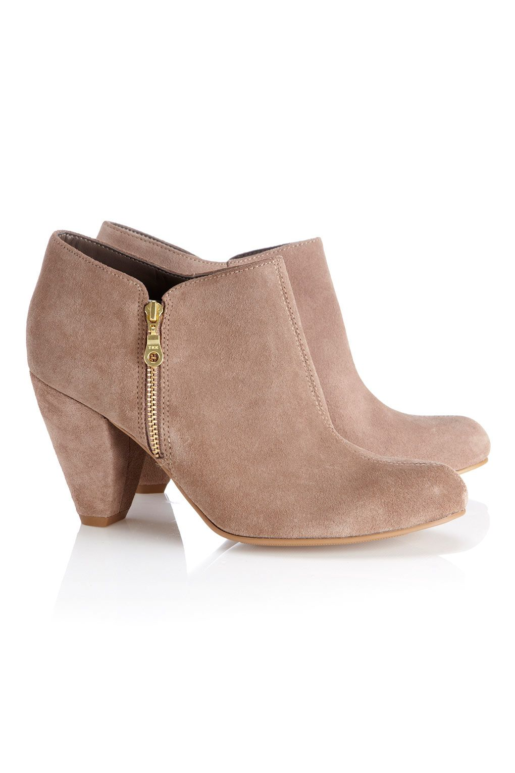 Neutral Curved Heel Ankle Boot // wallis