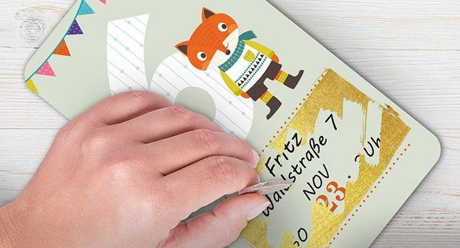einladungskarten für den kindergeburtstag basteln | nestlé