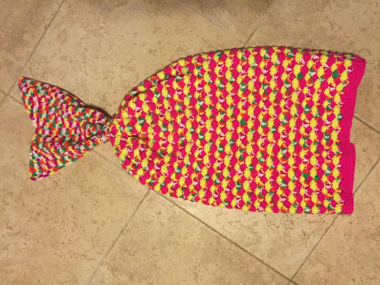 Neon Mermaid blanket