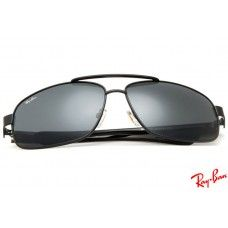 f1e8b558e9e61 Ray Ban RB8813 Aviator sunglasses with black frame and black lenses ...