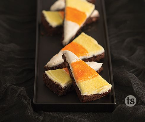 Candy Corn Brownies Recipe Halloween candy, Tastefully simple - halloween candy treat ideas